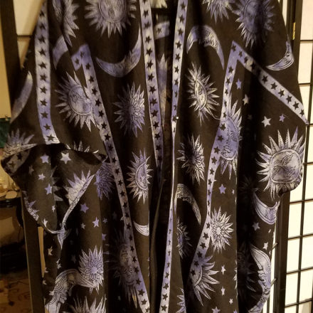 The Astrologer All cotton kimono style unisex robe