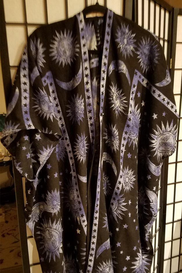 The Astrologer All cotton kimono style unisex robe