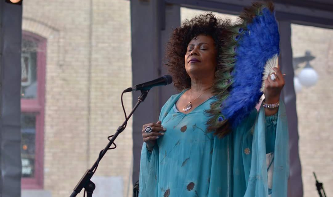 Pippi Ardennia performing at Jazz Fest in Phyllis Designs